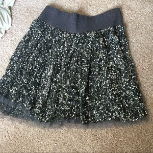 W118 by Walter baker silver sequin skirt